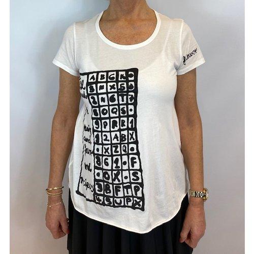 Rundholz Rundholz shirt 3370502 offwhite print