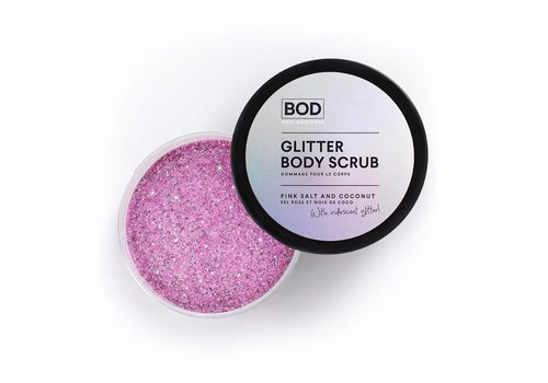 BOD Body on Demand Glitter Body Scrub Pink Salt & Coconut