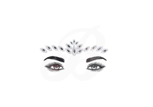 Festival Face Face Gems Lyra Silver Glitter