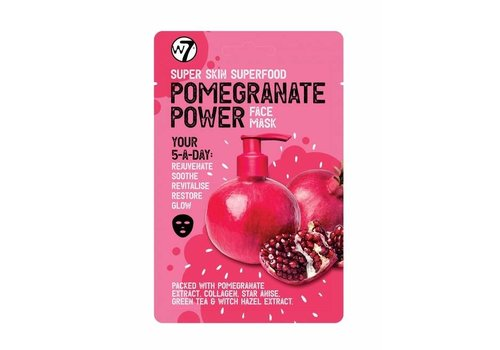 W7 Cosmetics Skin Superfood Pomagranate Power Face Mask