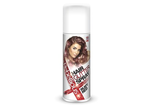 PaintGlow Glitter Hair Colour Spray Ruby Red