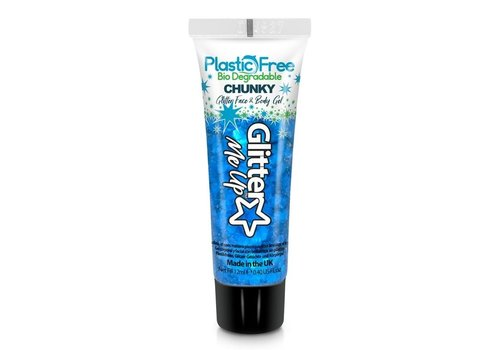 PaintGlow Bio Degradable Chunky Glitter Face & Body Gels Bluebell