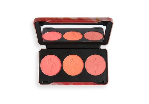 Makeup Revolution Flamingo Mini Trio Blush Oh My Blush Palette