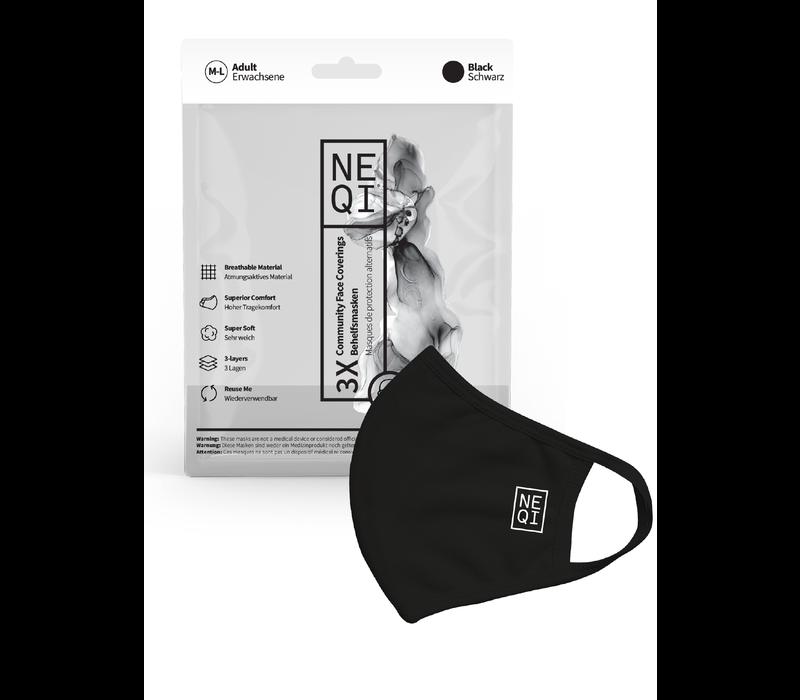 NEQI  Couvre-visage 3 Set Noir