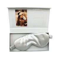 Beauty Pillow Luxury Silk Mask Silver
