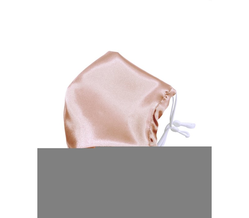 Beauty Pillow Satin Mouth Mask Peach