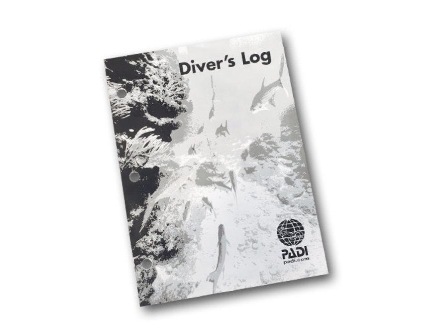 Logboekblaadjes voor PADI logboek