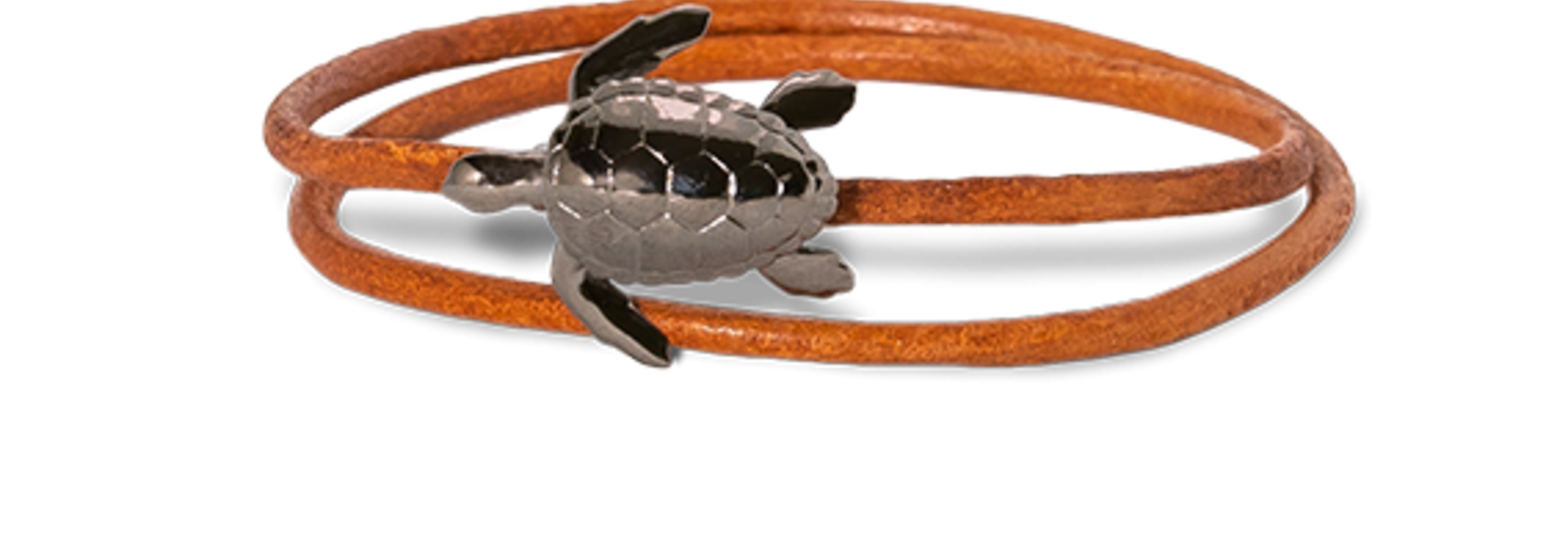 Turtle armband bruine band