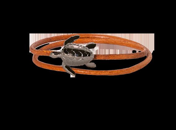 Turtle armband bruine band-1