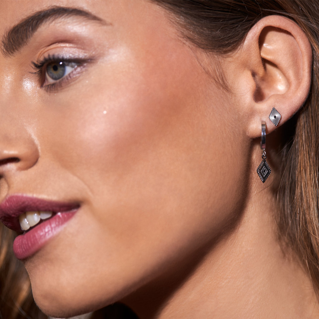 May Sparkle Happiness Jess zilverkleurige oorbellen
