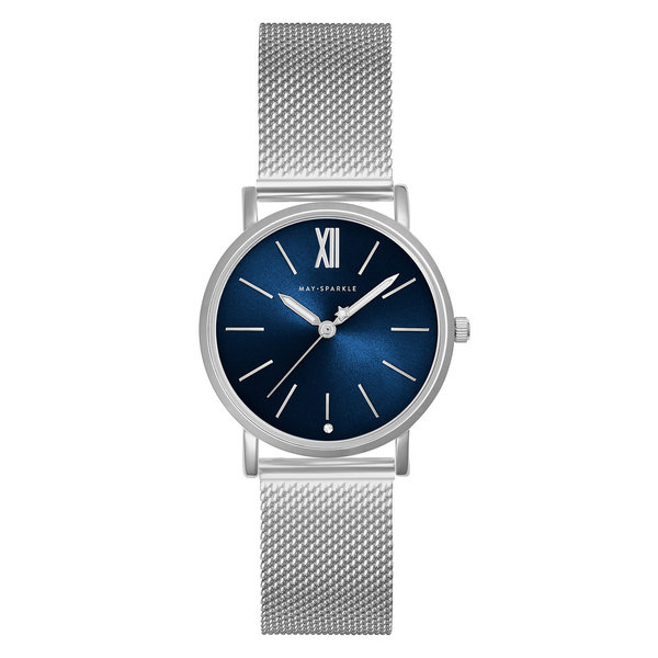 May Sparkle Bloom Girl Bloom River Zilverkleurig/Blauw horloge
