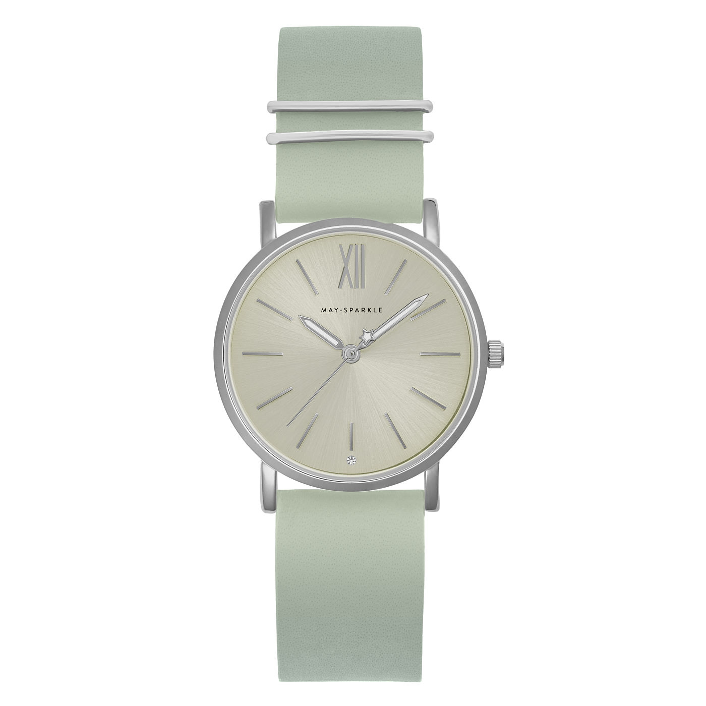 May Sparkle Classy Diva Misty grey watch