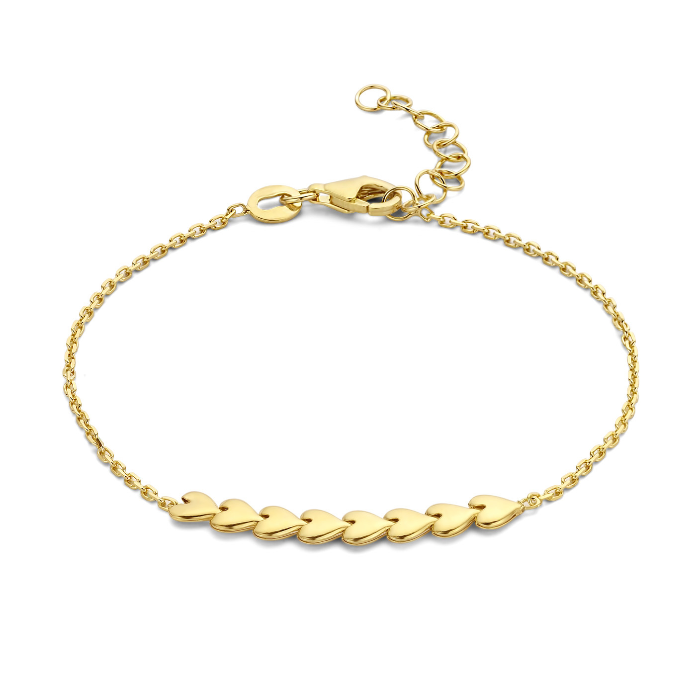 May Sparkle Happiness Sunny 925 sterling silver gold colored bracelet