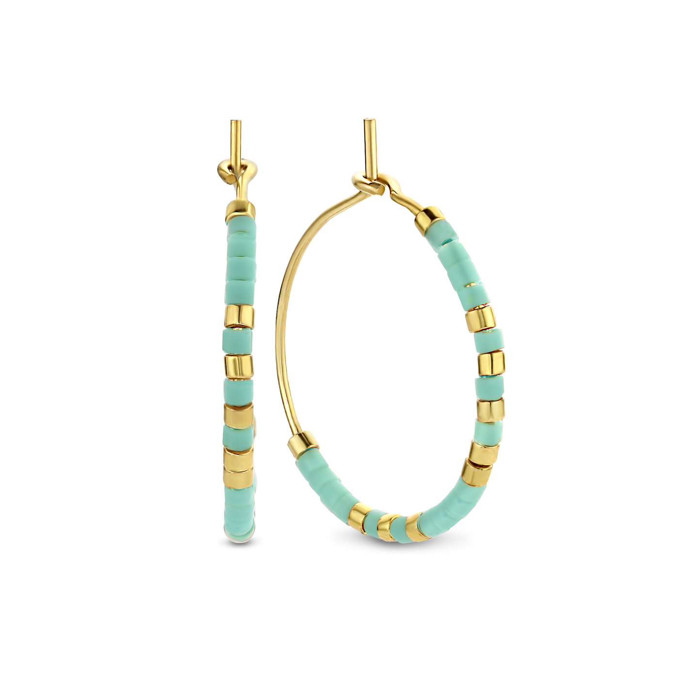 May Sparkle Happiness Jasmine gold colored hoop earrings