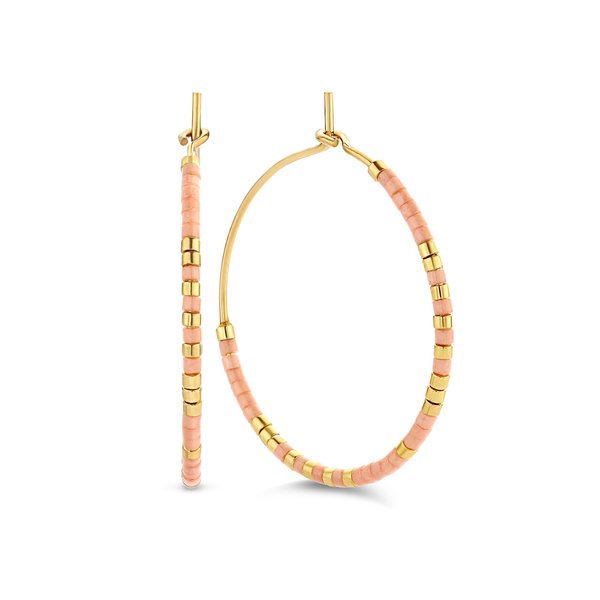 May Sparkle Happiness Violet gold colored hoop earrings