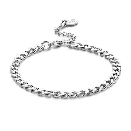 May Sparkle Beach Girl Amber zilverkleurige armband