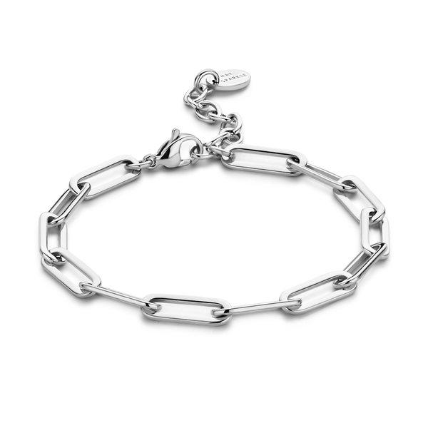May Sparkle Happiness Rose zilverkleurige armband
