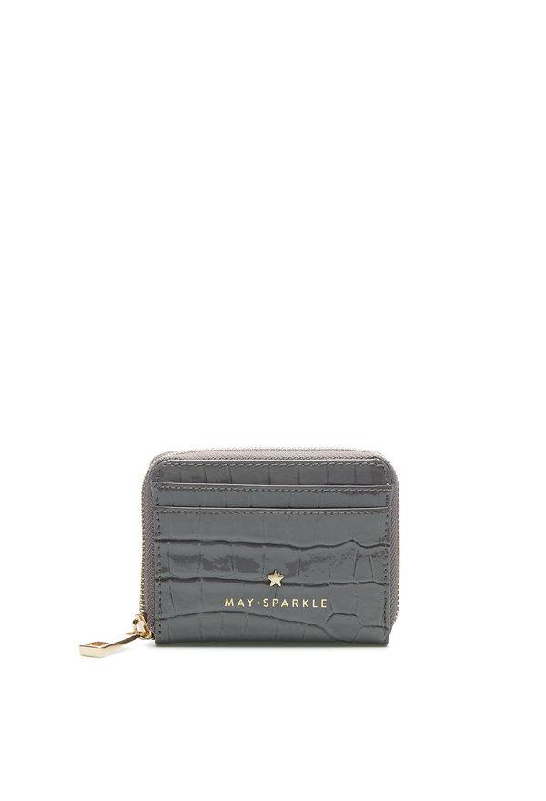 May Sparkle Festive grey croco Zipper wallet