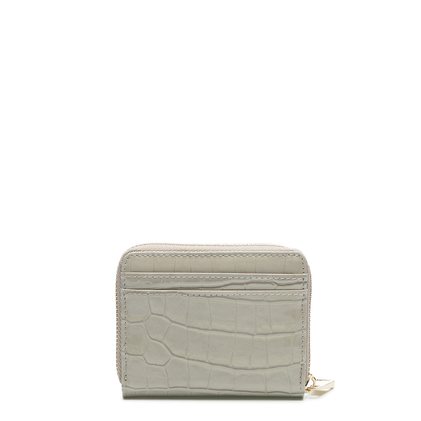 May Sparkle Festive sand grey croco zipper wallet