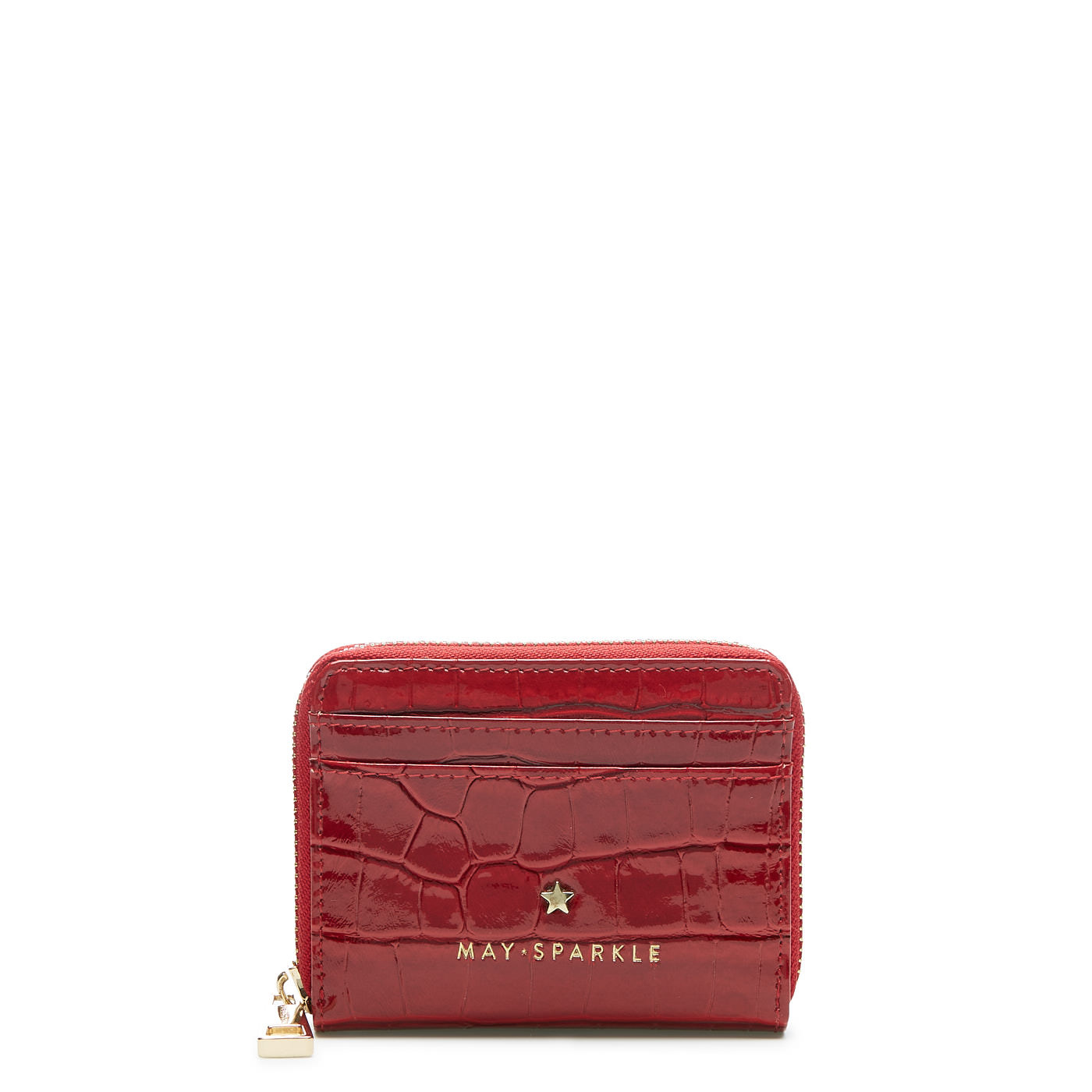 May Sparkle Festive red croco Zipper wallet