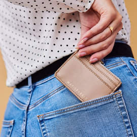 May Sparkle The Daily taupe Card holder