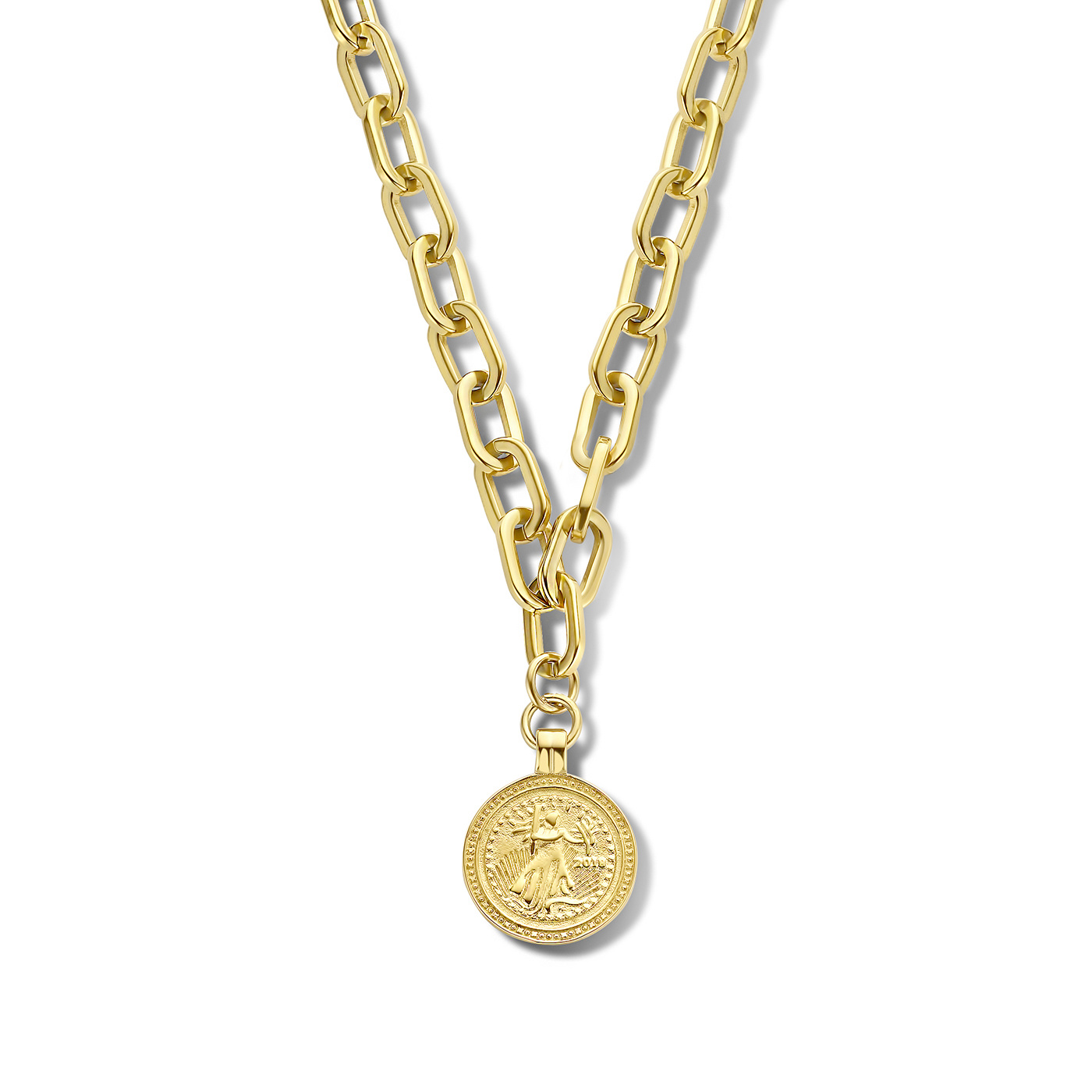 May Sparkle Happiness Iris gold colored necklace