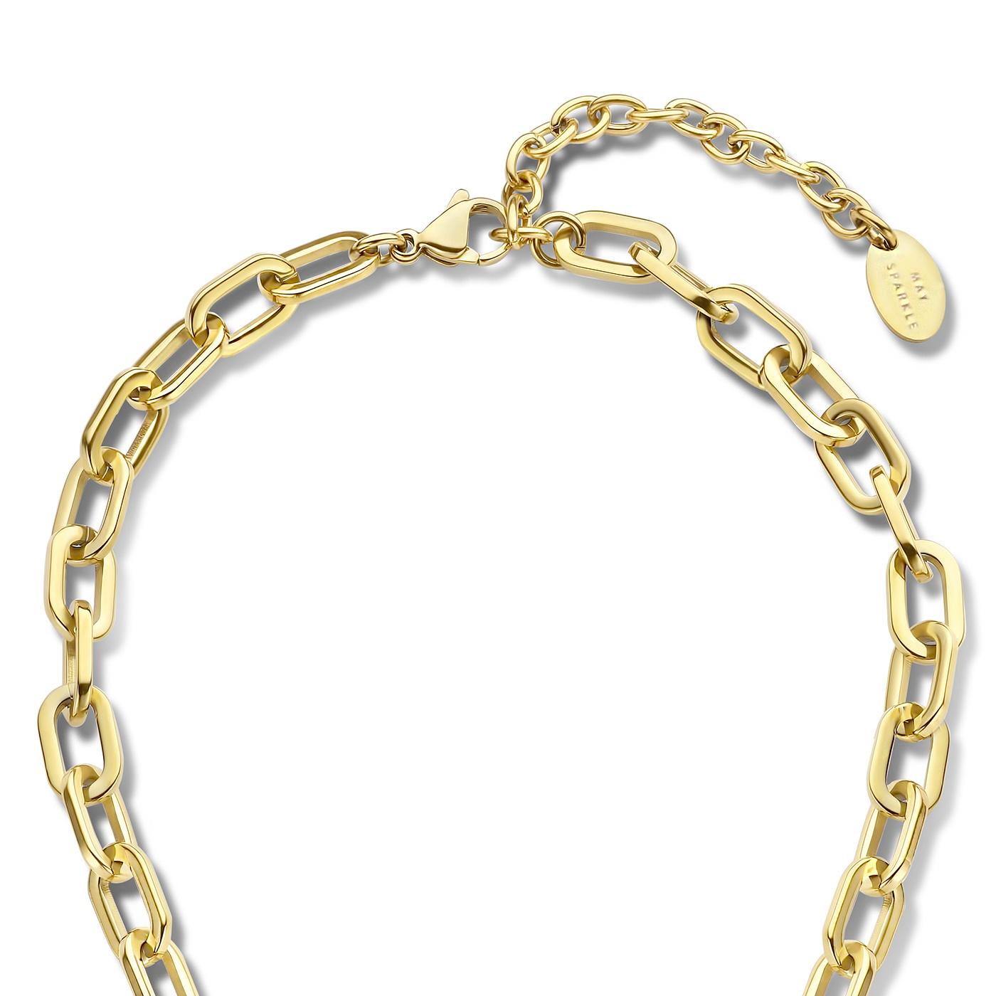 May Sparkle Beach Girl Amber goudkleurige ketting