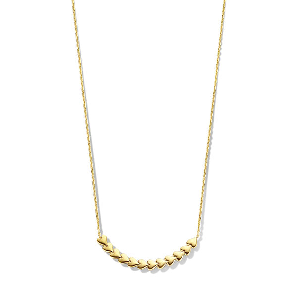 May Sparkle Happiness Sunny 925 sterling silver gold colored necklace