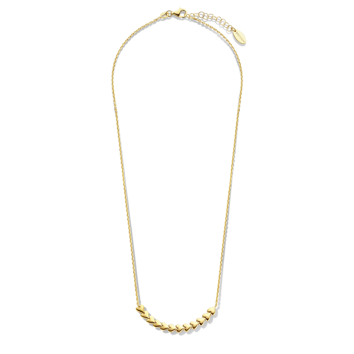 May Sparkle Forever Young Sunny 925 sterling silver gold colored necklace