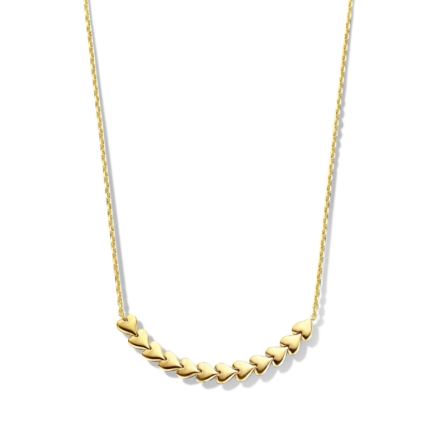 May Sparkle Happiness Sunny 925 sterling zilveren goudkleurige ketting