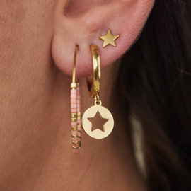 May Sparkle Happiness Violet gold colored earrings