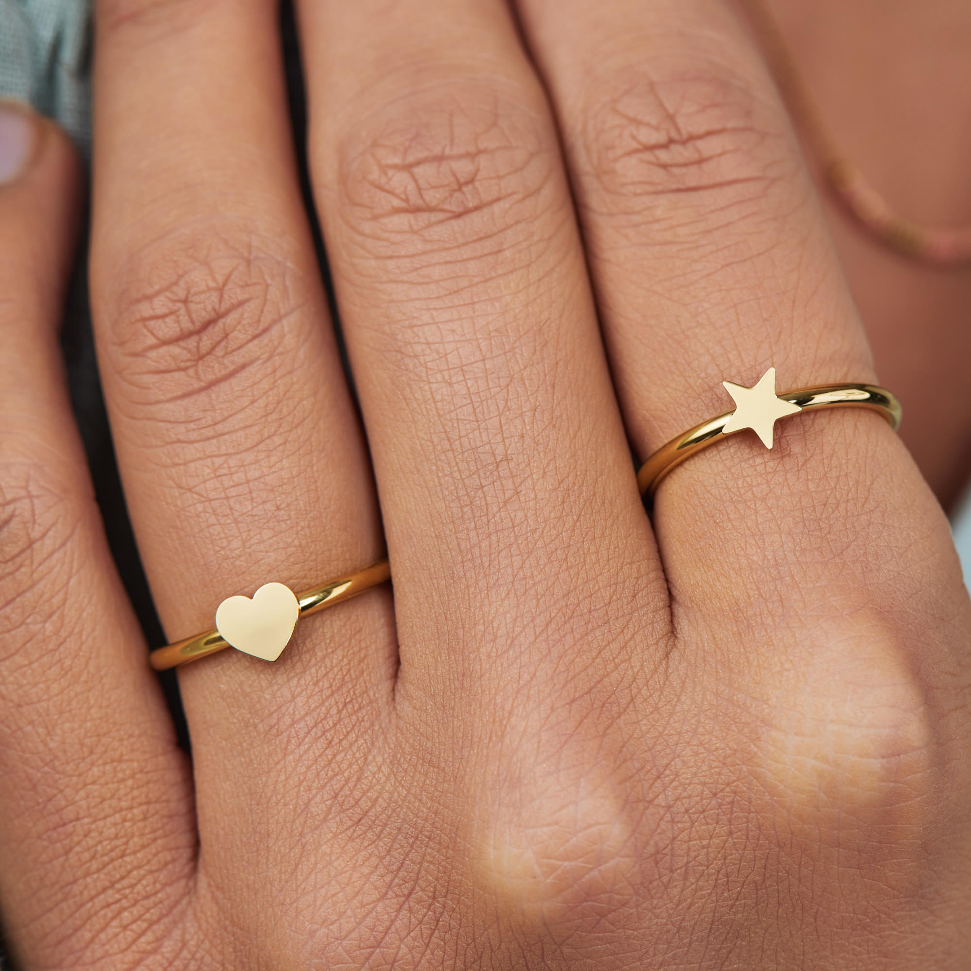 May Sparkle Happiness Eleonor gold colored ring