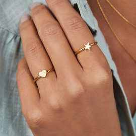 May Sparkle Happiness Star gold colored ring