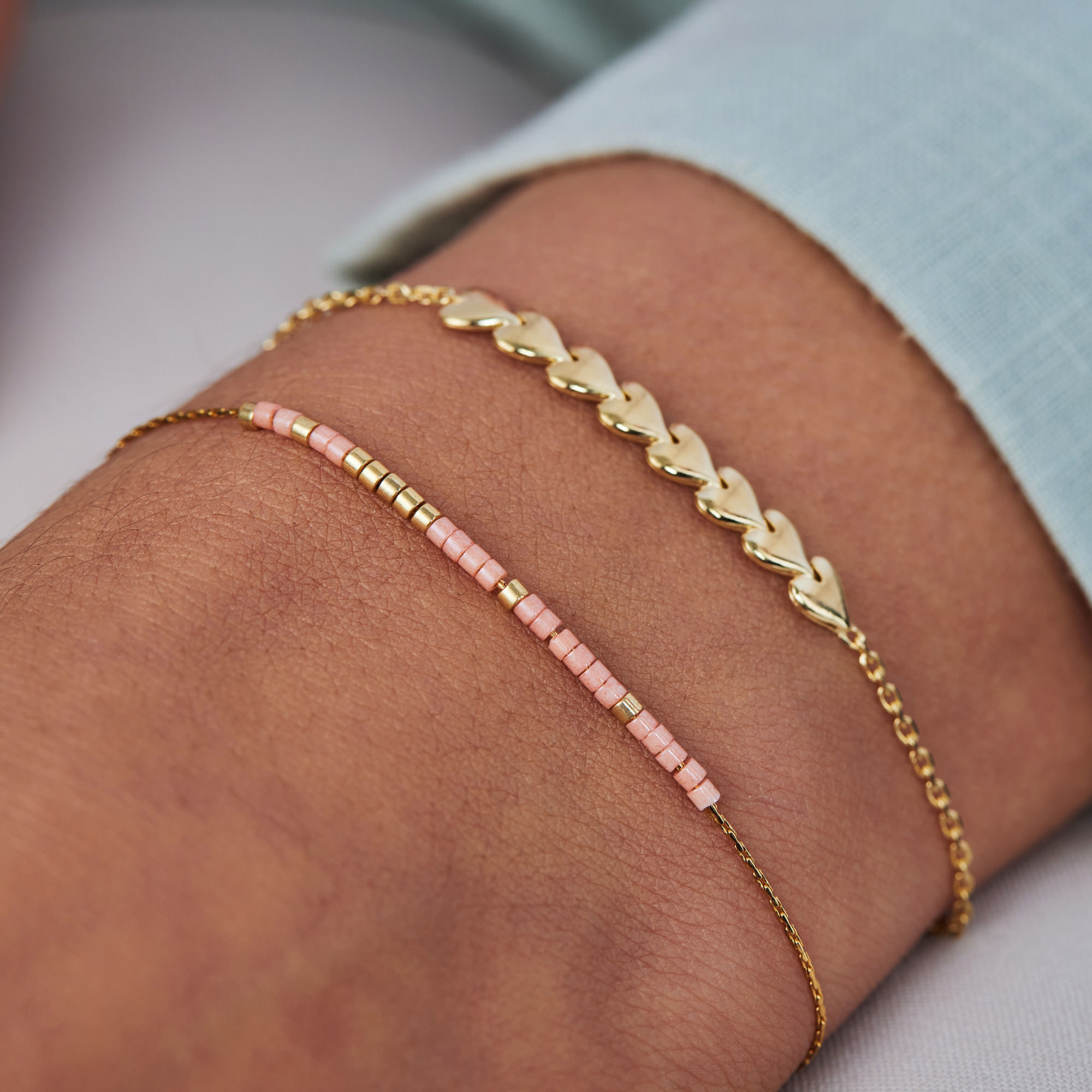 May Sparkle Forever Young Sunny 925 sterling silver gold colored bracelet