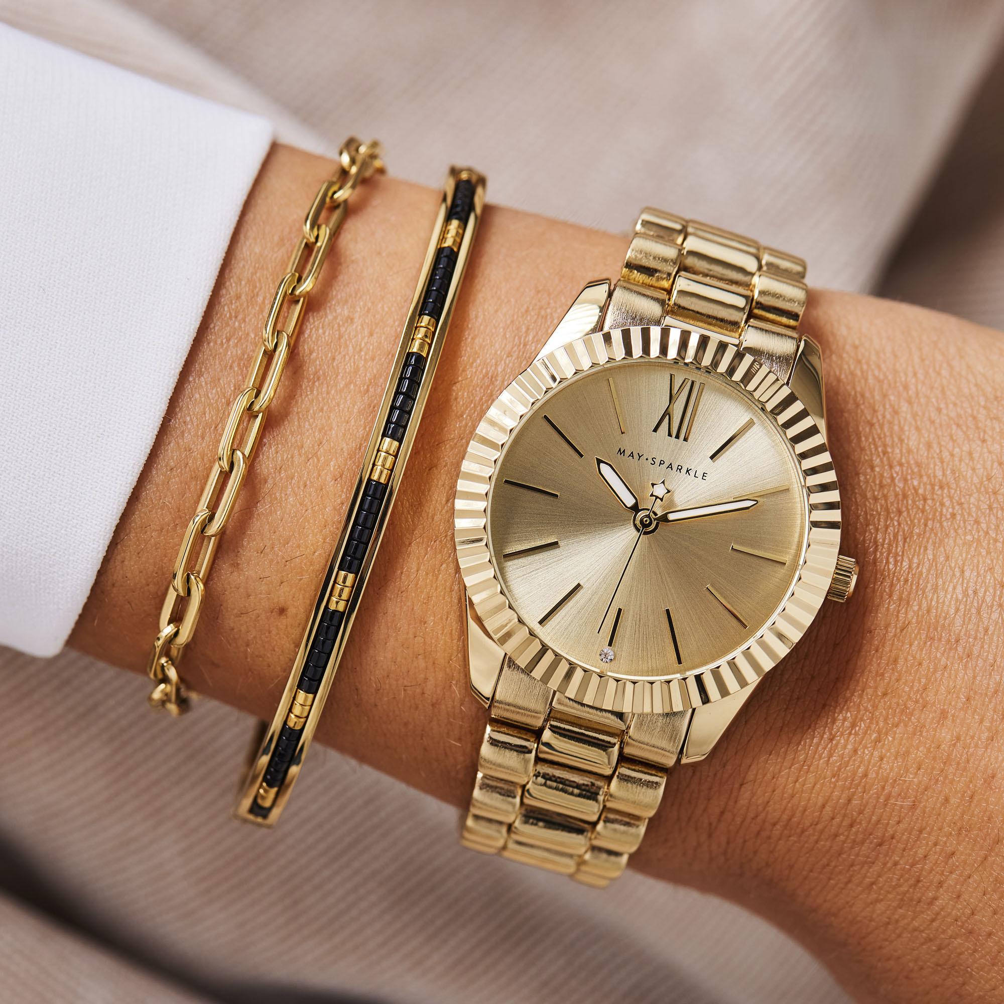May Sparkle Happiness Senna goudkleurige armband