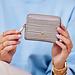 May Sparkle Festive sand grey croco zipper wallet