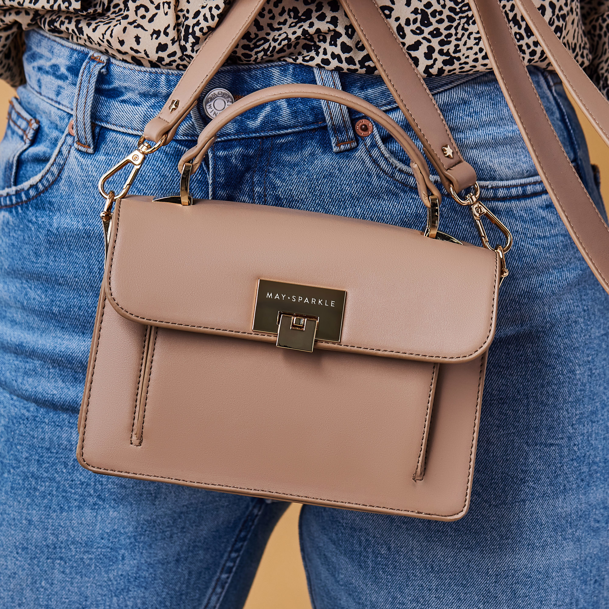 May Sparkle The Daily taupe handbag