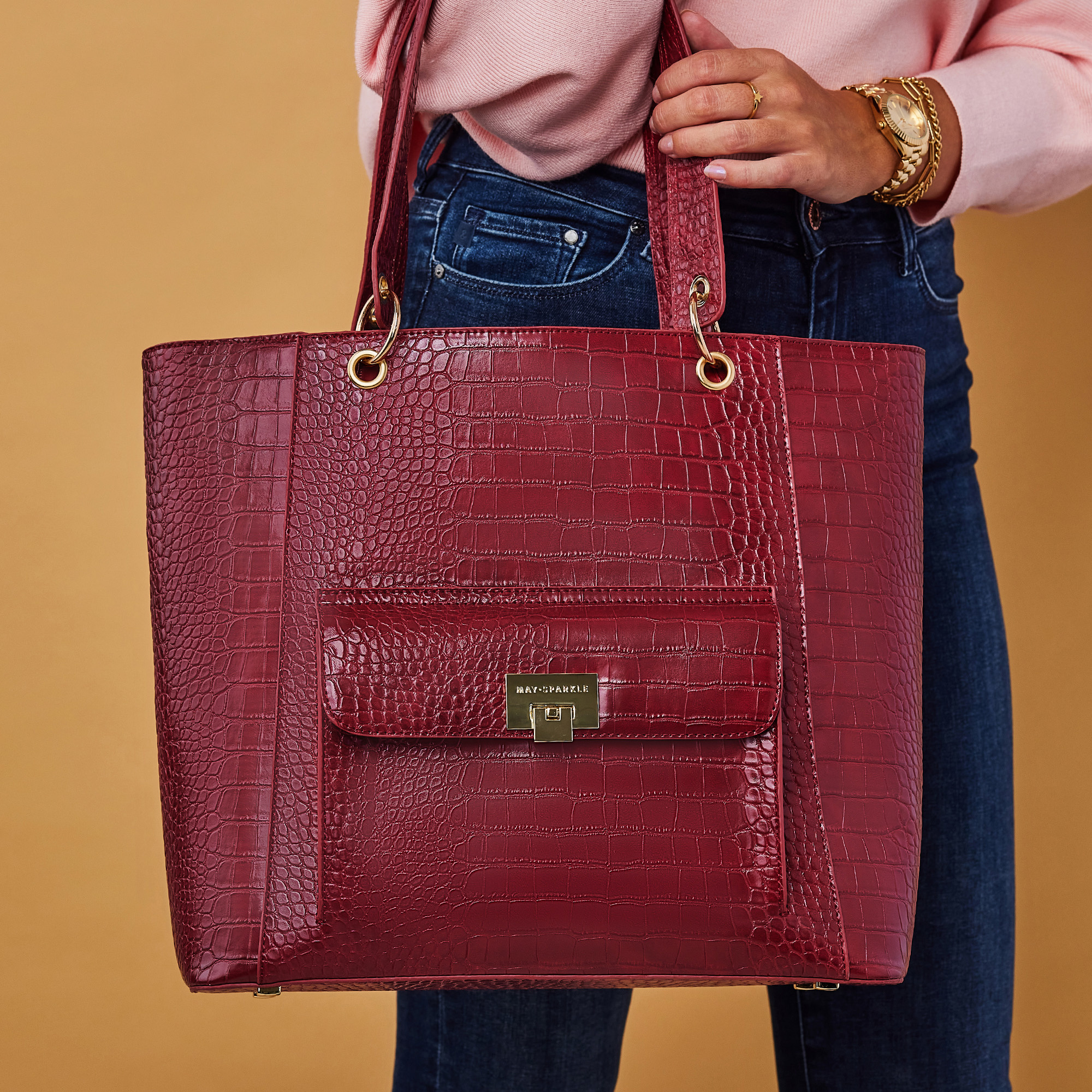 May Sparkle The Daily rode croco shopper
