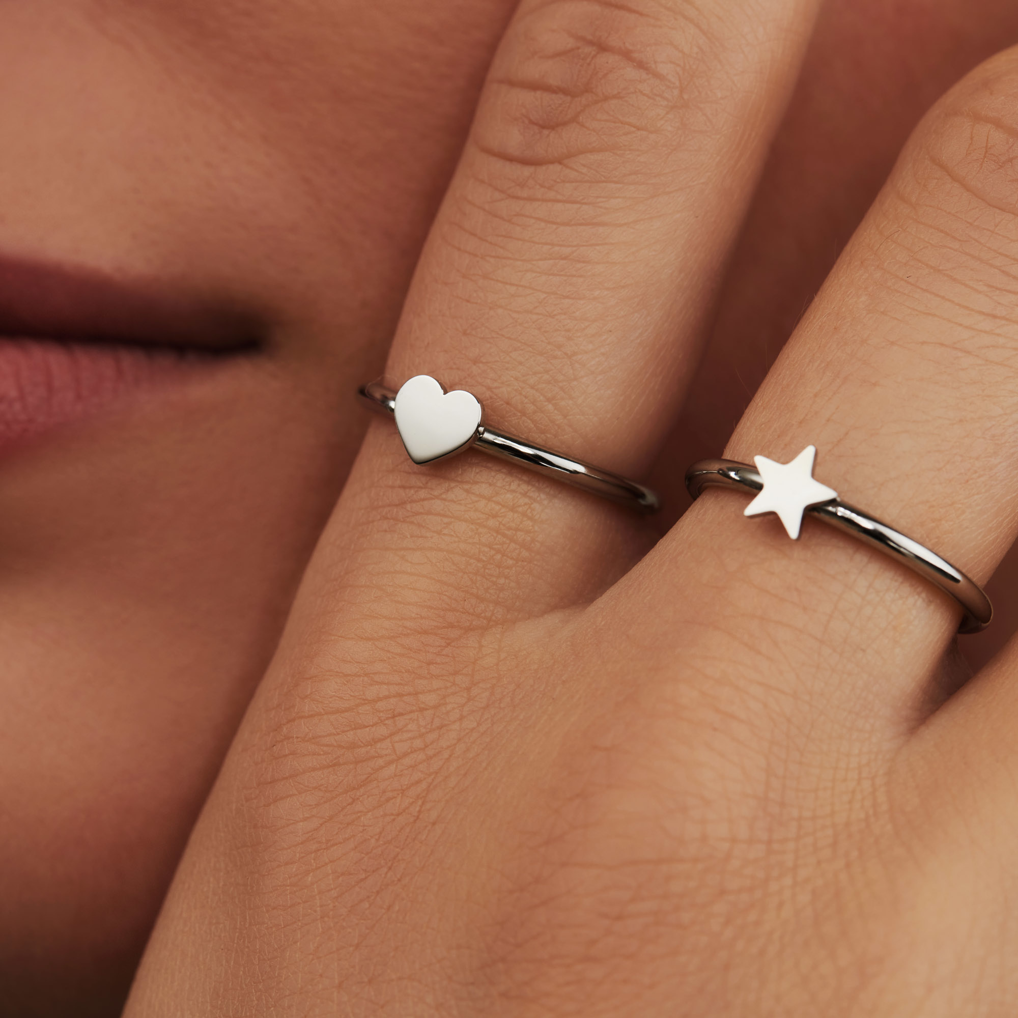 May Sparkle Forever Young Lova silver colored ring