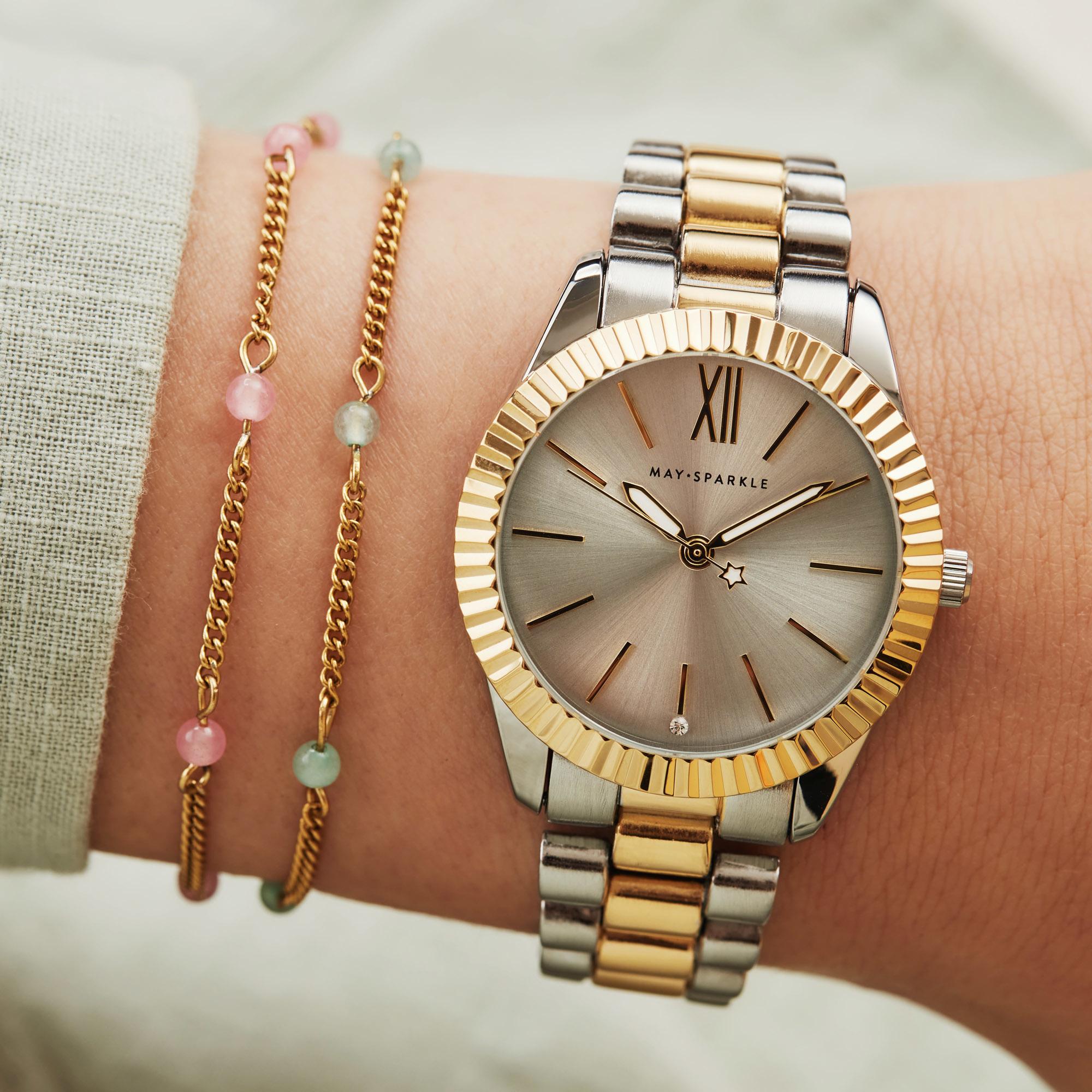 May Sparkle Happiness Jessie goudkleurige armband