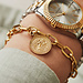 May Sparkle Beach Girl Amber gold colored bracelet