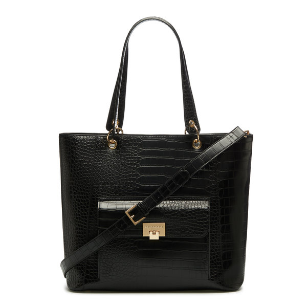 May Sparkle The Daily black croco shopper