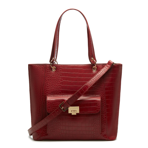 May Sparkle The Daily red croco shopper