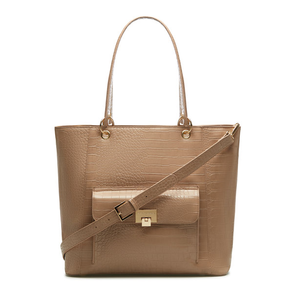 May Sparkle The Daily taupe croco shopper