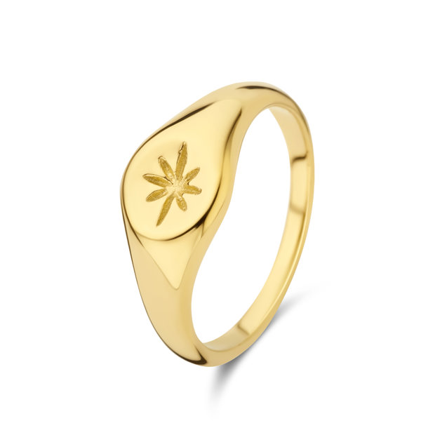 May Sparkle Summer Breeze Rosa goudkleurige ring