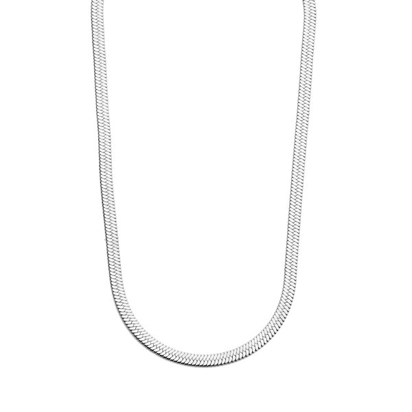 May Sparkle Summer Breeze Laumé silver colored herringbone necklace