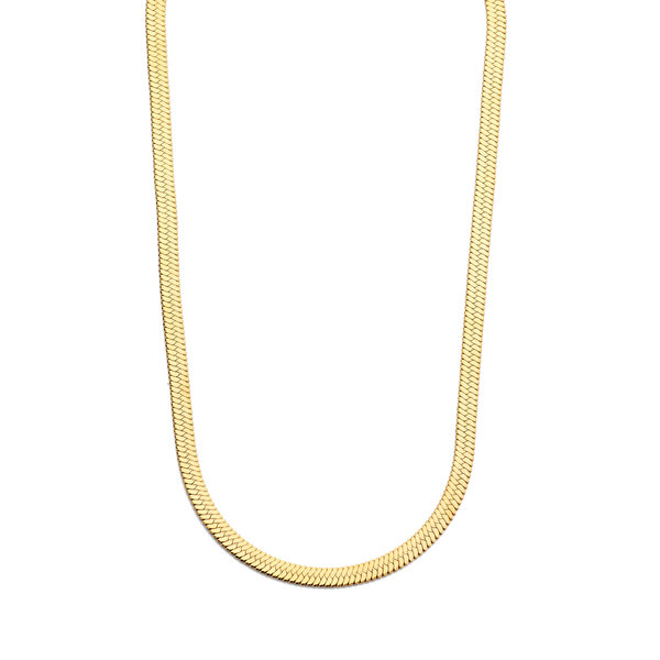 May Sparkle Summer Breeze Laumé gold colored herringbone necklace