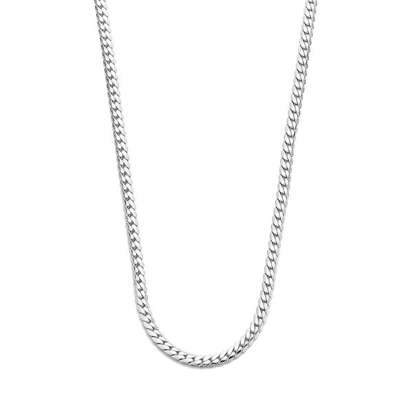 May Sparkle Summer Breeze Renee silver colored herringbone necklace