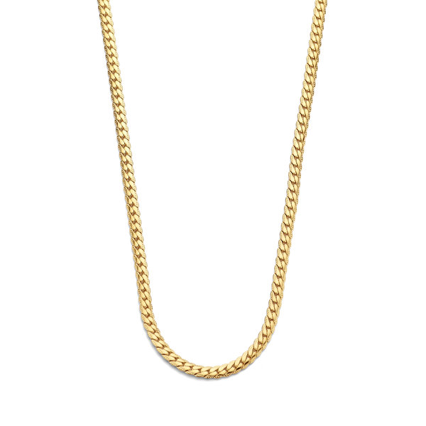 May Sparkle Summer Breeze Renee gold colored herringbone necklace