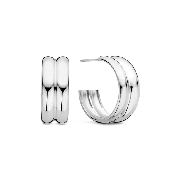 May Sparkle Summer Breeze Mia silver colored hoop earrings